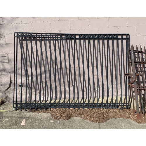 S15031B- Vintage Wrought Iron Fence Section