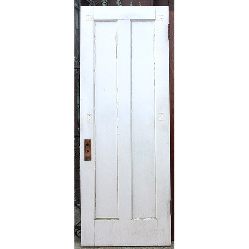 "D15213 - Antique Oak Interior Vertical Two Panel Door 30"" x 80-1/4"""