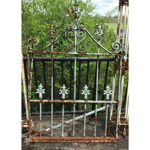 """S16012 - Antique Victorian Wrought and Cast Iron Garden Gate 48"""" x 72"""""""