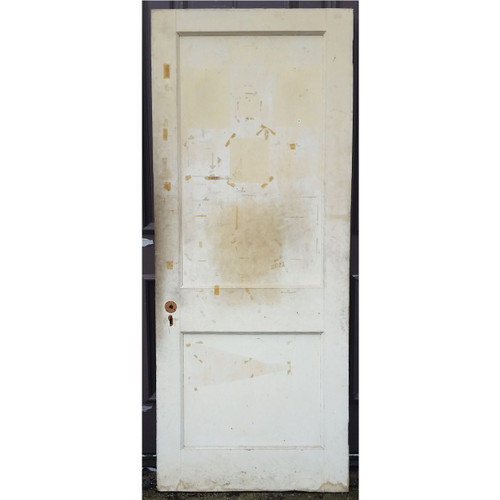 "D17031 - Antique Revival Period Two Panel Interior Door 31-3/4"" x 77-1/4"""
