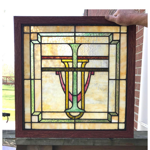G17027 - Antique Stained Glass Window