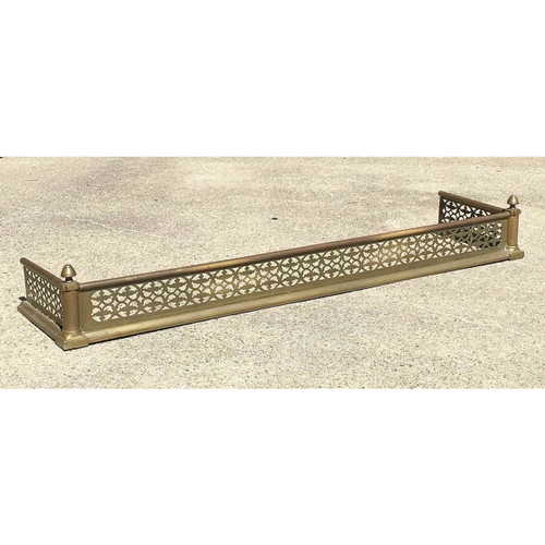 M17008 - Antique Colonial Revival Brass Fireplace Fender