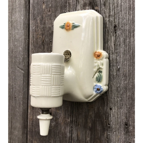 L17143- Antique Ceramic Wall Sconce
