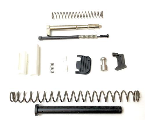 Glock 19 Gen 3 Slide Completion Kit with Fluted Nitride Guide Rod (SALE) Marine Cups