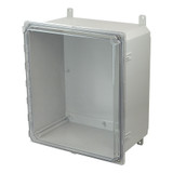 PCJ16148CCH | Hammond Manufacturing 16 x 14 x 8 Hinged 2-Screw Clear Junction Box Cover