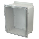 PCJ16148CCHF | Hammond Manufacturing 16 x 14 x 8 Hinged 2-Screw Clear Junction Box Cover