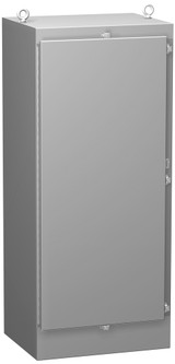 1418N4S16W18QT | Hammond Manufacturing 72 x 25 x 18 Freestanding enclosure with continuous hinge door and quarter turn latch