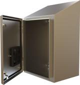 HWST36308SS | Hammond Manufacturing 36 x 30 x 8 N4X Wallmount Slope Top Enclosure
