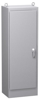 HN4FS722436DASS | Hammond Manufacturing 72 x 24 x 36 Freestanding enclosure with continuous hinge door and handle