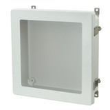 AM1224LW - Metal Snap Latch Hinged Window Cover Enclosure