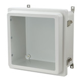 AM1226RLW - Metal Snap Latch Hinged Raised Window Cover Enclosure
