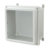 AM1226RW - Lift-Off 4-Screw Raised Window Cover Enclosure