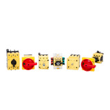 MSW 40 B-3 H   Disconnect Switch w/ Handle (Red/Yellow) and Shaft