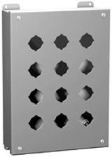 1435C   Pushbutton Enclosure (30.5mm; 3 holes)