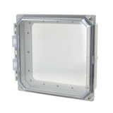AMHMI88CCH | Hinged 2-Screw Clear Cover  8 x 8 HMI Cover Kit | Wistex II, LLC