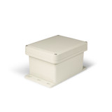 UPCG080604F | Ensto 8 x 6 x 4 Polycarbonate enclosure with 4-screw lift-off cover