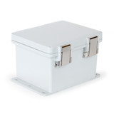 UPCG121006HMLF | Ensto 12 x 10 x 6 Polycarbonate enclosure with hinged cover and snap latch
