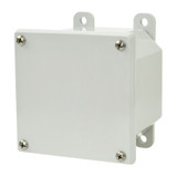 AMP443   4 x 4 x 3 Polycarbonate enclosure with 4-screw lift-off cover