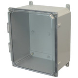 AMP1226CC   Allied Moulded Products 12 x 12 x 6 Polycarbonate enclosure with 4-screw lift-off clear cover