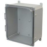 AMP1226CCH | Allied Moulded Products 12 x 12 x 6 Polycarbonate enclosure with 2-screw hinged clear cover