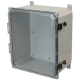 AMP1226CCL   Allied Moulded Products 12 x 12 x 6 Polycarbonate enclosure with hinged clear cover and stainless-steel snap latch