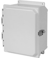 PJU14126LF   Hammond Manufacturing 14 x 12 x 6 Fiberglass enclosure with hinged cover and snap latch