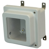 AM664RHW   Allied Moulded Products 6 x 6 x 4 Junction Box With Viewing Window Raised Hinged 2-Screw Cover