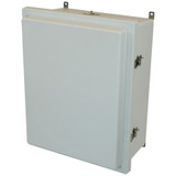 AM2068RT   20 x 16 x 8 Fiberglass enclosure with raised hinged cover and twist latch