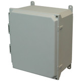 AMU1206H | Allied Moulded Products 12 x 10 x 6  Hinged 2-Screw Solid/Opaque Cover
