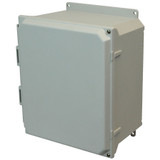 AMU1206HF | Allied Moulded Products 12 x 10 x 6  Hinged 2-Screw Solid/Opaque Cover
