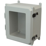 AMU1206LW | Allied Moulded Products 12 x 10 x 6  Metal Snap Latch Hinged Window Cover