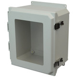 AMU1206LWF | Allied Moulded Products 12 x 10 x 6  Metal Snap Latch Hinged Window Cover
