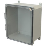 AMU1206CCH | Allied Moulded Products 12 x 10 x 6 Hinged 2-Screw Clear Cover