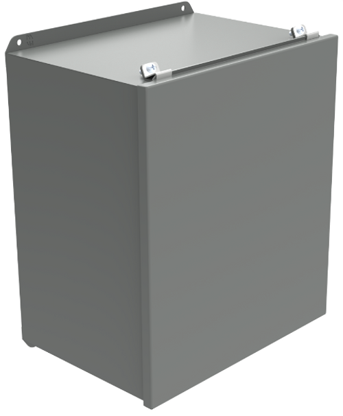 HJ1084LP | 10 x 8 x 4 Hammond Manufacturing Lift-Off Steel Cover Gray