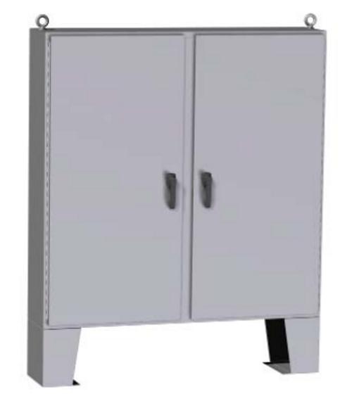 HN4FM727224  | Hammond Manufacturing 72 x 72 x 24 Floormount Enclosure  With Panel