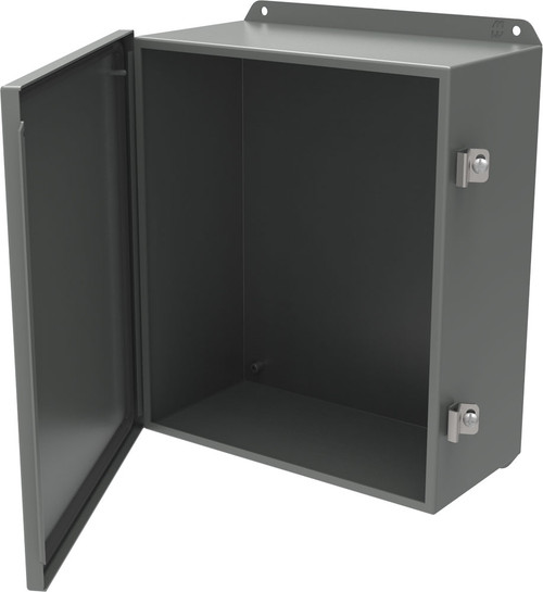 HJ10106HLP   Hammond Manufacturing 10 x 10 x 6 Hinged Steel Cover (w/ Clamps)