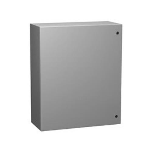 EN4SD16128LG | Hammond Manufacturing 16 x 12 x 8 Single Door Steel Enclosure Light Gray