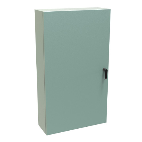 EN4SD42248GY | Hammond Manufacturing 42 x 24 x 8 Steel Windowless Enclosure with 3 Point Latching Handle
