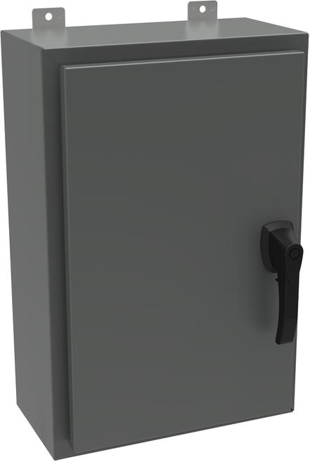 HW302416GYHK | Hammond Manufacturing 30 x 24 x 16  Hinged Enclosure with Handle