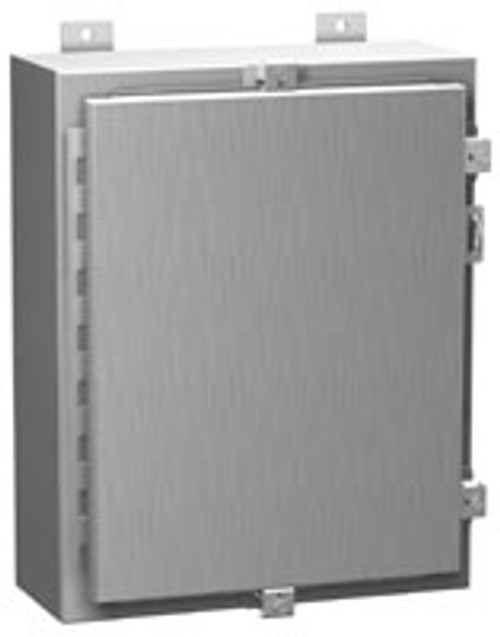 1418N4S16J12   Hammond Manufacturing 24 x 24 x 12 Steel Enclosure with Continuous Hinge Door and Clamps