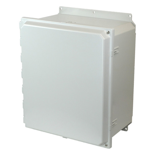 PCJ16148HF | Hammond Manufacturing 16 x 14 x 8 Hinged 2-Screw  Junction Box Cover