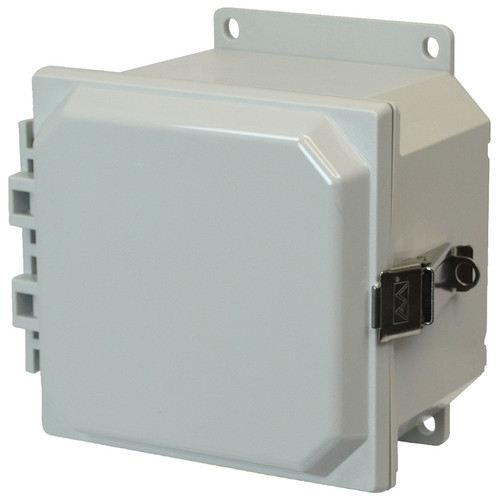 PCJ664LF | Hammond Manufacturing 6 x 6 x 4 Hinged Metal Snap Latch Junction Box Cover