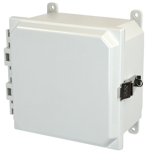PCJ884L | Hammond Manufacturing 8 x 8 x 4 Hinged Metal Snap Latch Junction Box Cover