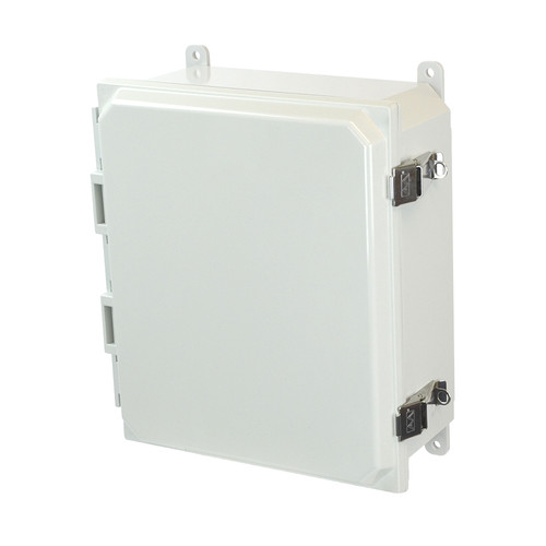 PCJ12104L | Hammond Manufacturing 12 x 10 x 4 Hinged Metal Snap Latch Junction Box Cover
