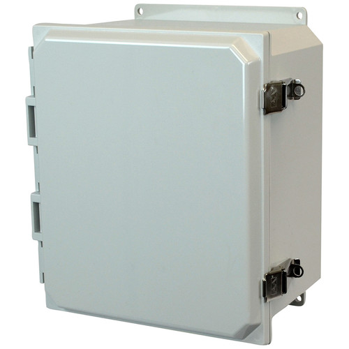 PCJ12106LF | Hammond Manufacturing 12 x 10 x 6 Hinged Metal Snap Latch Junction Box Cover
