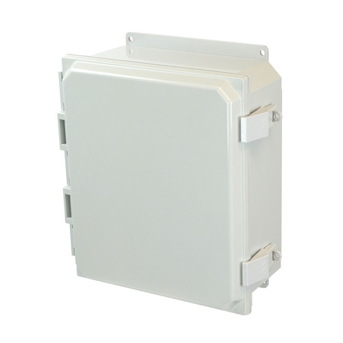 PCJ12104NLF | Hammond Manufacturing 12 x 10 x 4 Hinged Nonmetal Snap Latch Junction Box Cover