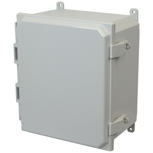 PCJ12106NL | Hammond Manufacturing 12 x 10 x 6 Hinged Nonmetal Snap Latch Junction Box Cover