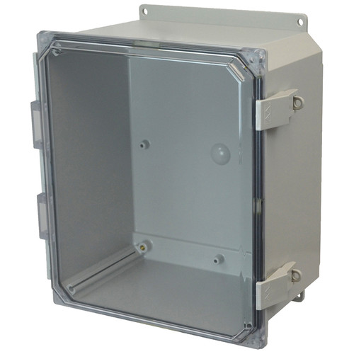 PCJ12106CCNLF | Hammond Manufacturing 12 x 10 x 6 Hinged Nonmetal Snap Latch Clear  Junction Box Cover