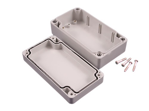 1554K2GY | 6.3 x 3.5 x 3.5 Opaque Lift-Off Screw Cover Enclosure