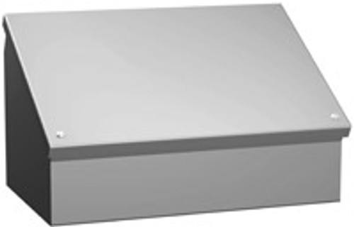 1488LL13 | Hammond Manufacturing 20 x 20 x 13.15 Hinged Cover Consolet
